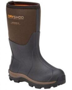 Dryshod Boys' Haymaker Rubber Boots - Soft Toe, Brown, hi-res