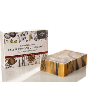 Earth Luxe Bali Teakwood and Cardamom Nearly Natural Soap, No Color, hi-res