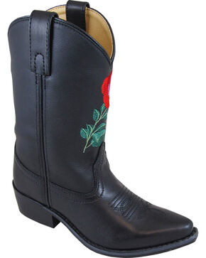Smoky Mountain Youth Girls' Rosalito Western Boots - Snip Toe , Black, hi-res