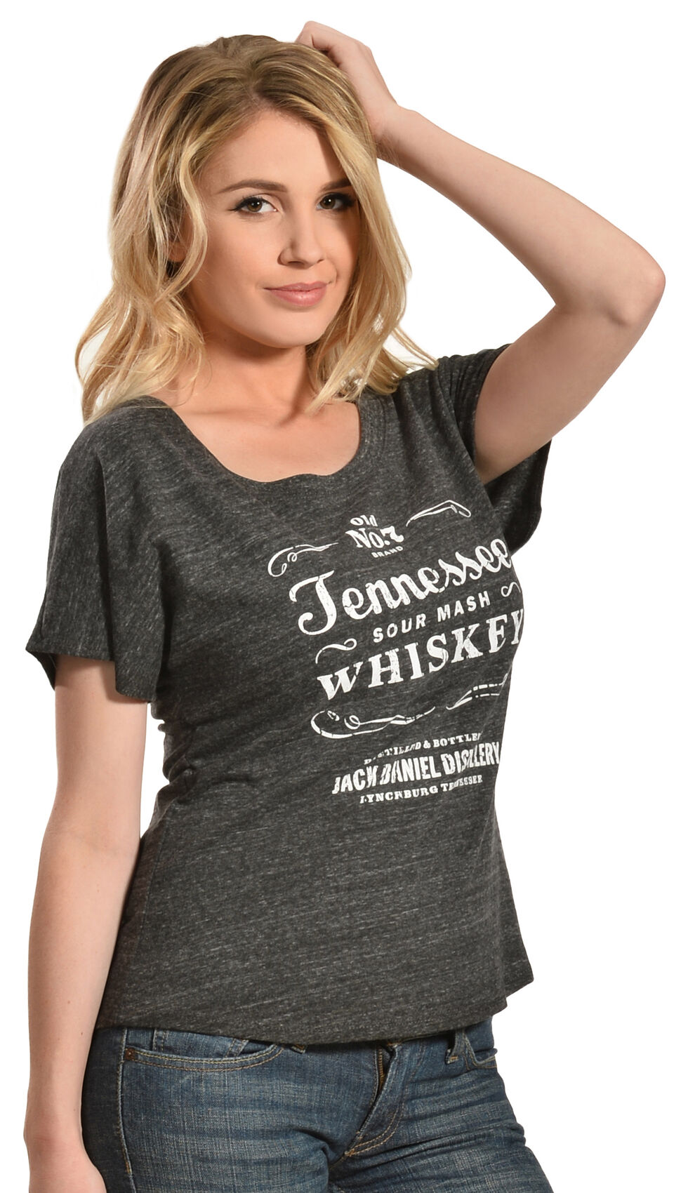 Jack Daniel's Women's Tennessee Whiskey Short Sleeve T-Shirt, Grey, hi-res
