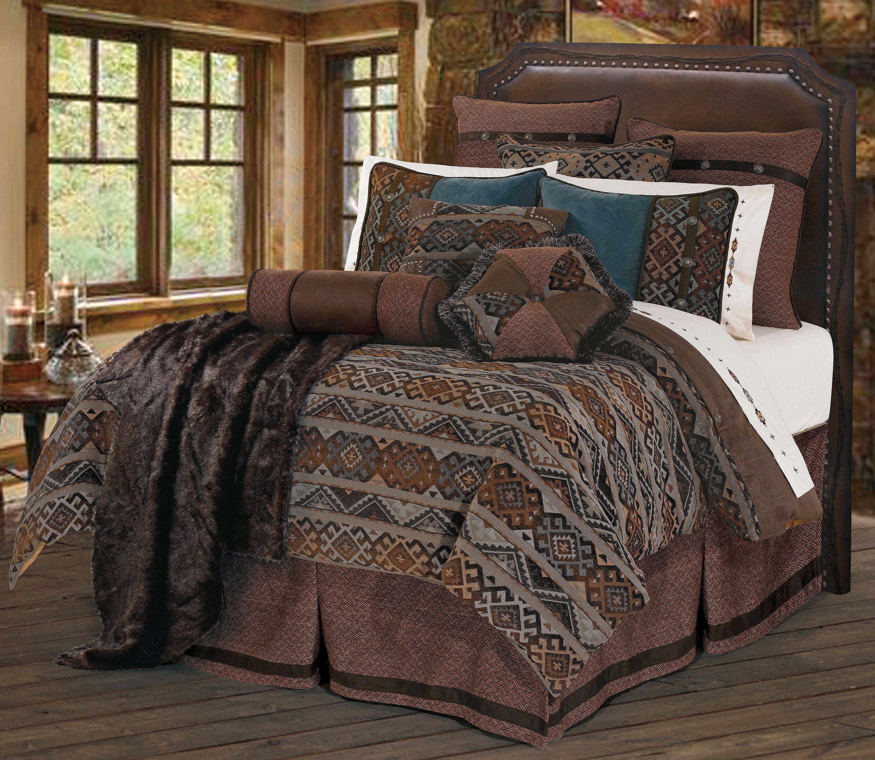 HiEnd Accents Rio Grande King Bedding Set, Multi, Hi Res