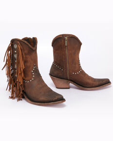 Liberty Black Women's Vegas Faggio Booties - Pointed Toe, Tan, hi-res