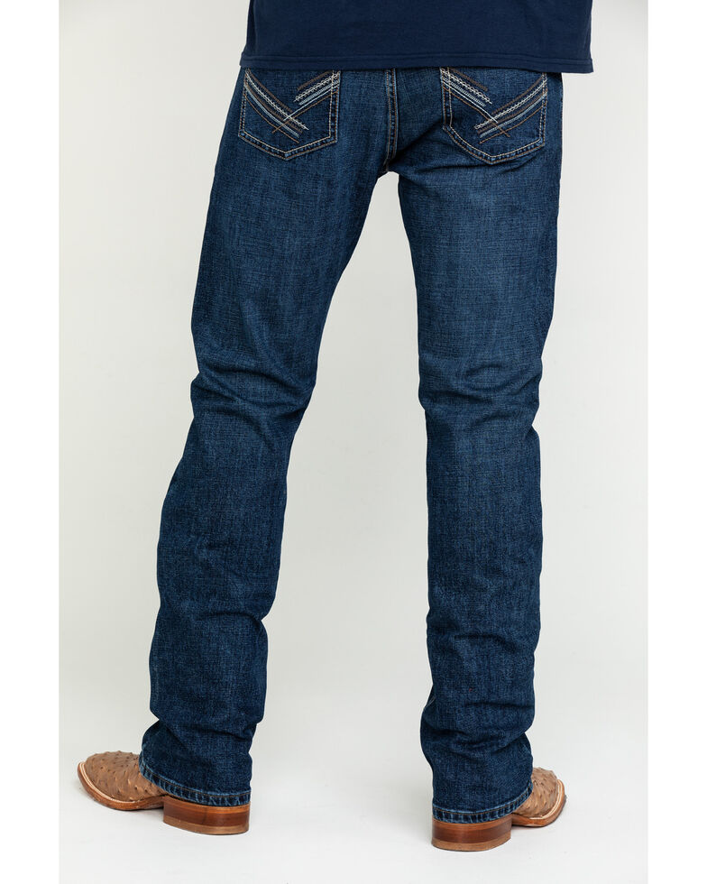 Wrangler 20X Men's Amarillo Vintage Stretch Slim Bootcut Jeans , Blue, hi-res