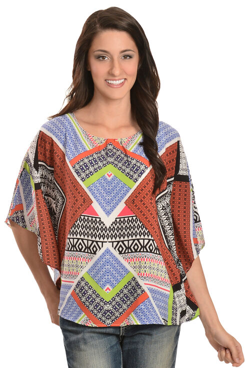Red Ranch Women's Mixed Print Tunic, Multi, hi-res