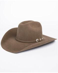 63e93f46ac6ca American Hat Co. Mens 7X Pecan Self Buckle Felt Cowboy Hat