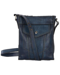 STS Ranchwear Women's Denim Leather Crossbody, Blue, hi-res