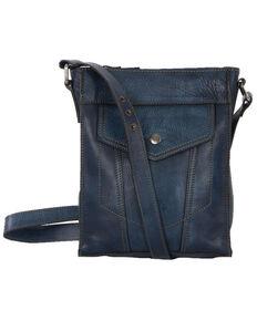 STS Ranchwear Women's Denim Leather Crossbody, Blue, hi-res