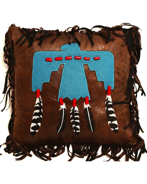 Carstens Thunderbird Pillow, Turquoise, hi-res
