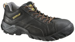 Caterpillar Argon Black Lace-Up Work Shoes - Composite Toe, Black, hi-res