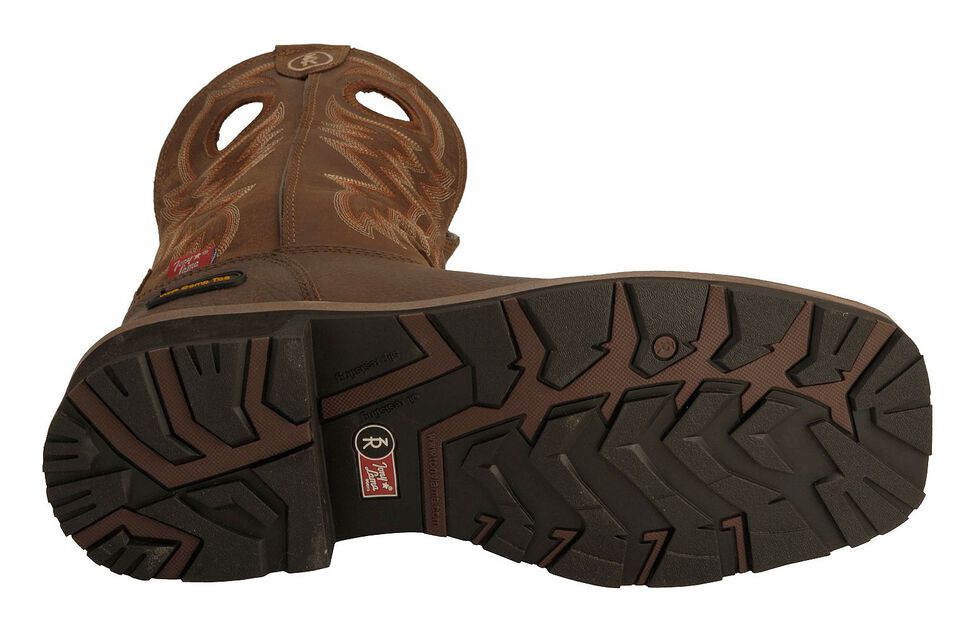 Tony Lama 3R Chocolate Waterproof Cheyenne Chaparral Boots - Composite Toe, Chocolate, hi-res