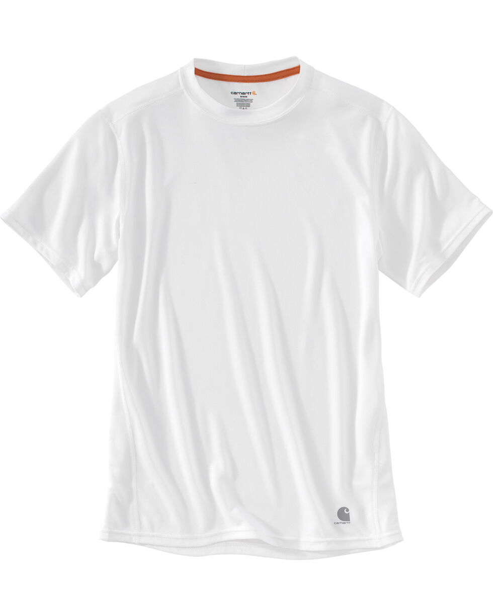 Carhartt Men's Base Force Extremes Lightweight Short-Sleeve T-Shirt - Tall , White, hi-res