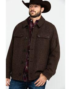 Pendleton Men's Mahognay Capitol Hill Button Front Shirt Jacket , Brown, hi-res