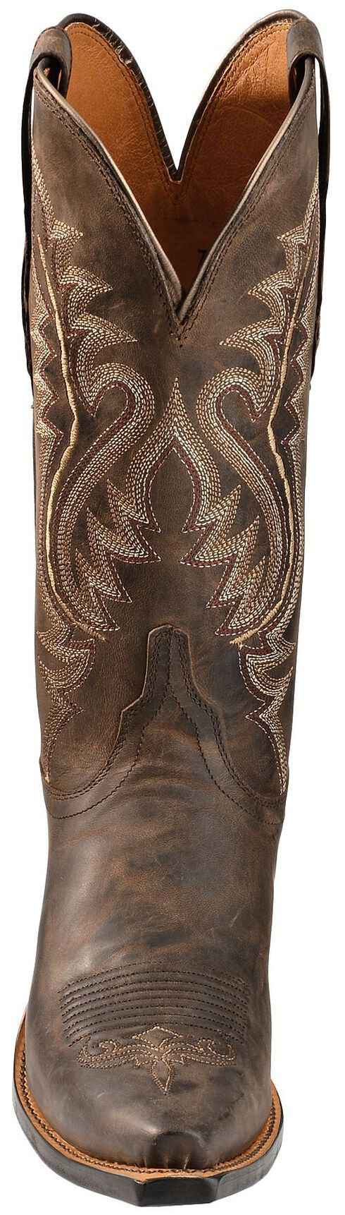 Lucchese Handcrafted 1883 Madras Goat Cowgirl Boots - Snip Toe, Chocolate, hi-res
