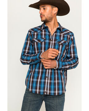 Cody James Men's Plaid Long Sleeve Shirt, Brown, hi-res