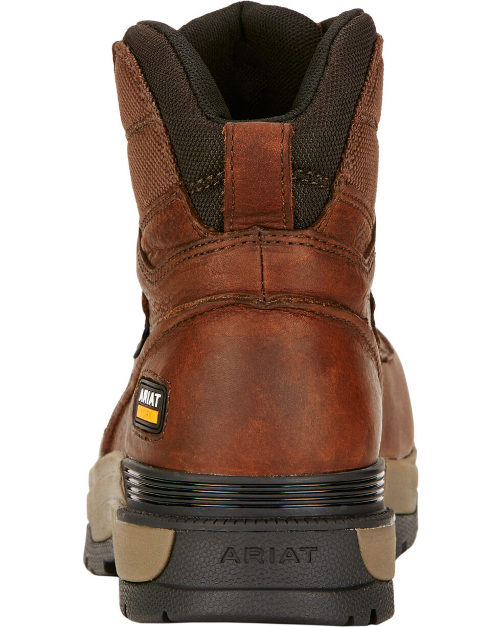 "Ariat Mastergrip 6"" H2O Briar Brown Work Boots - Composite Toe , Briar, hi-res"