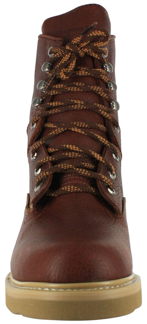 "American Worker Men's 8"" Lace-Up Work Boots , Russet, hi-res"