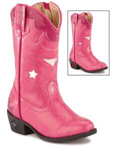 Smoky Mountain Toddler Girls' Stars Light Up Pink Boots - Medium Toe, Hot Pink, hi-res