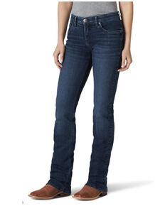 Wrangler Women's Dana Baby Bootcut Jeans, Blue, hi-res