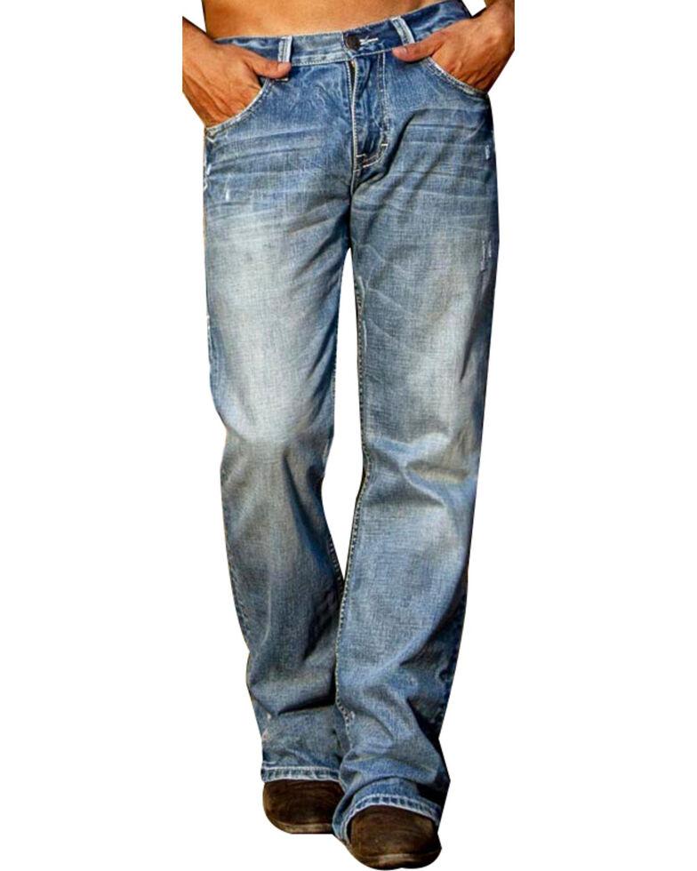 B. Tuff Men's Kirk Boot Cut Jeans, Indigo, hi-res