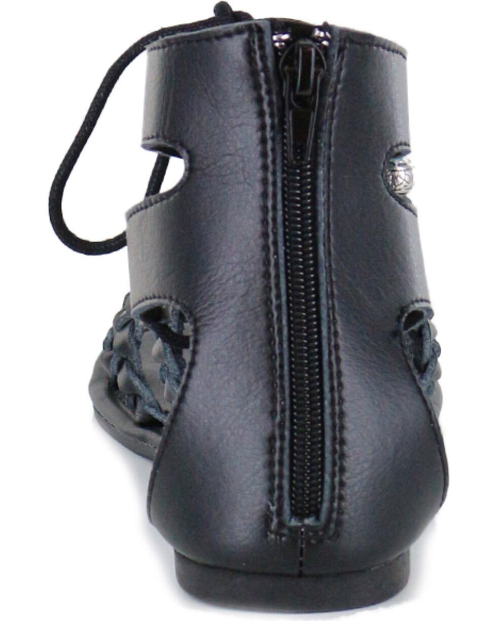 Shyanne Women's Tassel Lace-Up Sandal, Black, hi-res