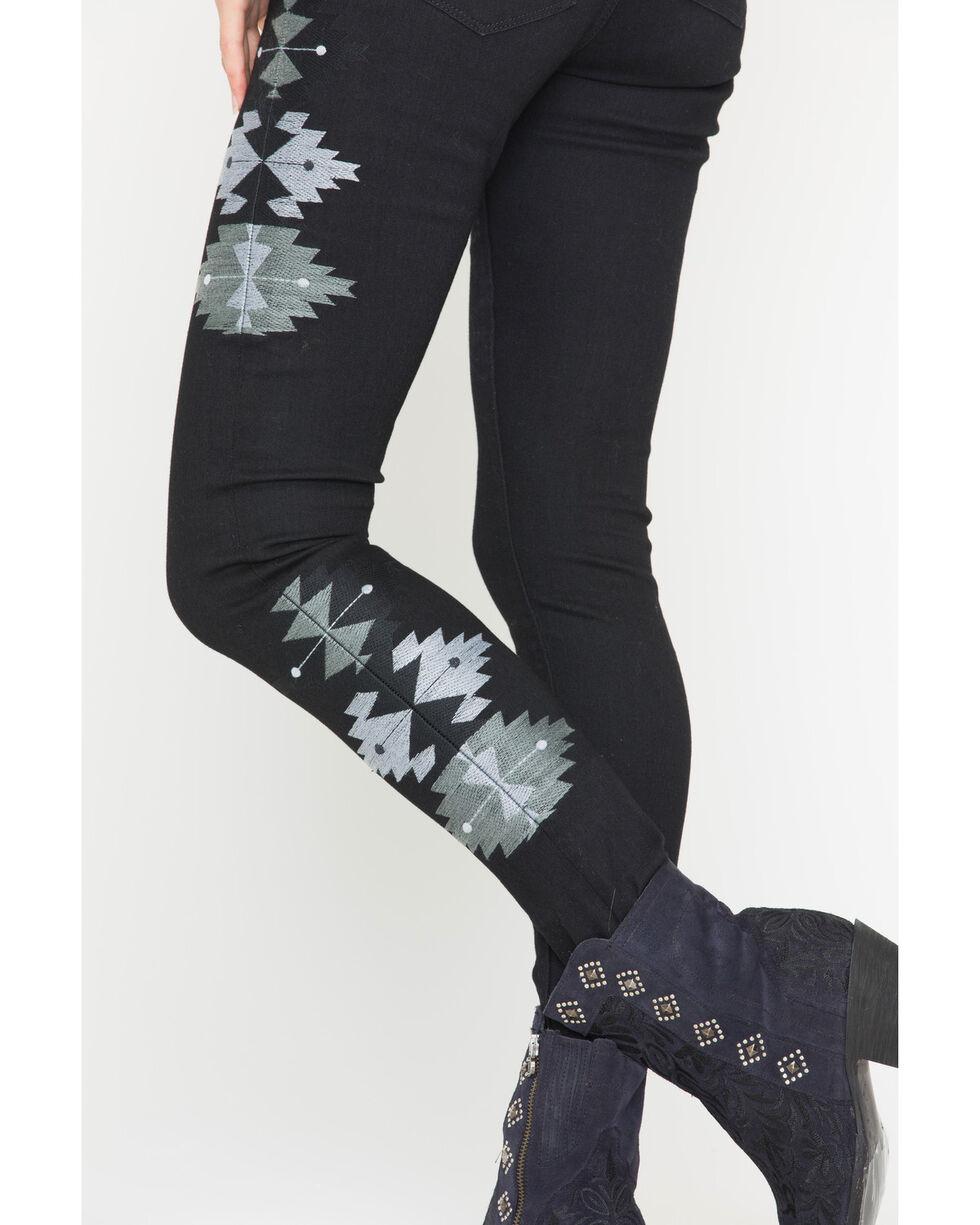 MM Vintage Women's Mary Jane Skinny Jeans, Black, hi-res