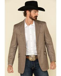Circle S Men's Brown Houston Western Sportcoat - Long , Brown, hi-res
