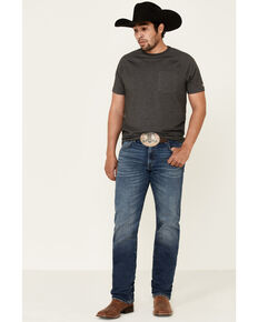 Wrangler Retro Men's Meadow Medium Wash Stretch Slim Straight Jeans - Long, Blue, hi-res
