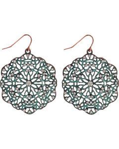 Shyanne Women's Lasercut Earrings, Turquoise, hi-res