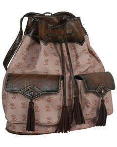 Catchfly Women's Floral Purse Backpack, Pink, hi-res