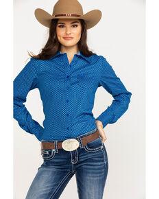 9e69f4ca44659d Cinch Womens Dotted Geo Print Logo Long Sleeve Western Shirt