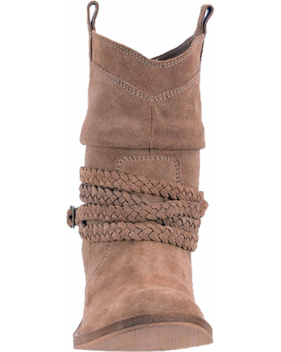 Dingo Women's Slate Twisted Sister Slouch Boots - Round Toe , Slate, hi-res