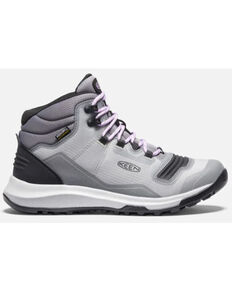 Keen Women's Steel Grey & Violet Tempo Flex Waterproof Hiking Boot , Grey, hi-res