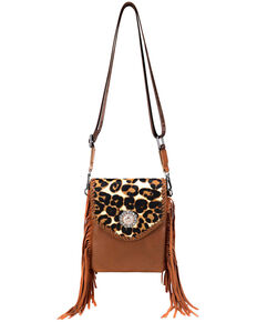 Montana West Women's Leopard Crossbody Bag, Brown, hi-res