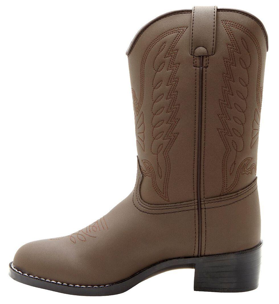Durango Boys' Brown Cowboy Boots - Round Toe, Brown, hi-res