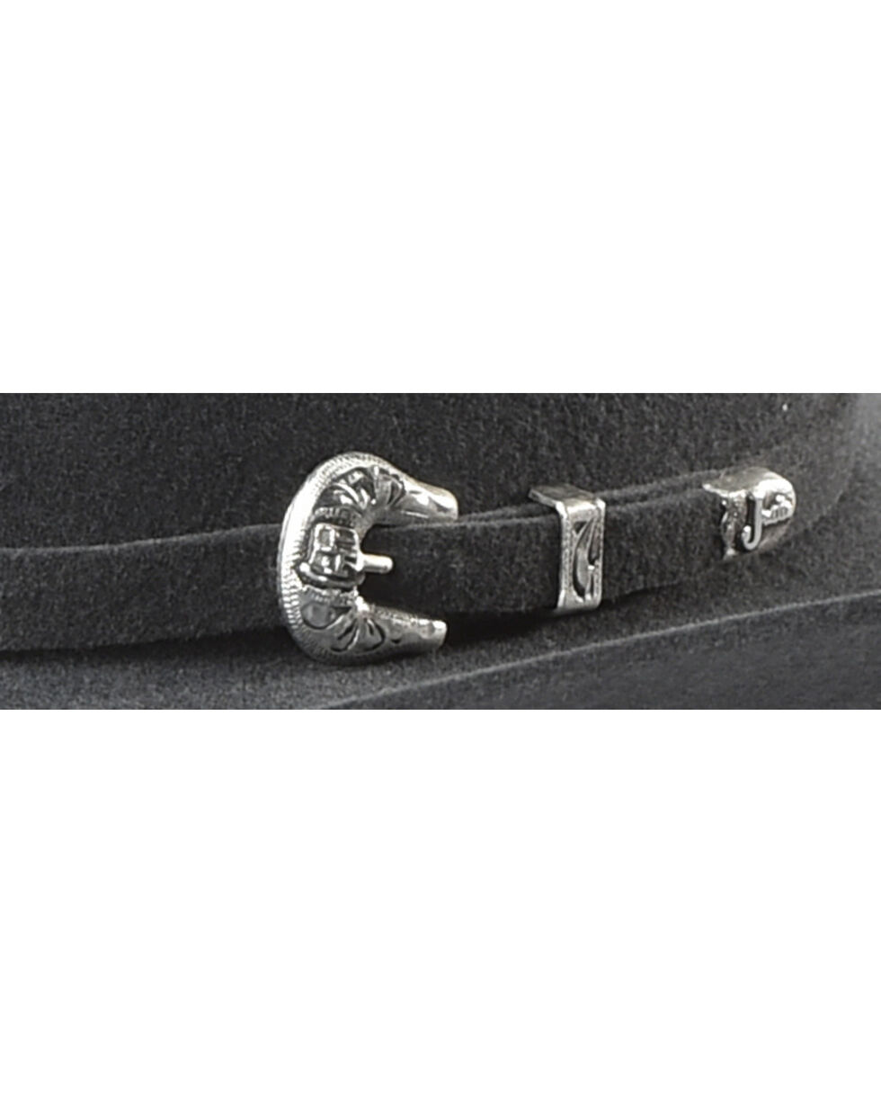 Justin Bent Rail Men's Grey 7X Bullet Cowboy Hat, Grey, hi-res