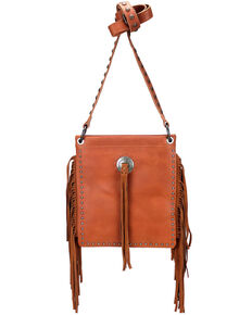Montana West Women's Leather Fringe Crossbody Bag, Brown, hi-res