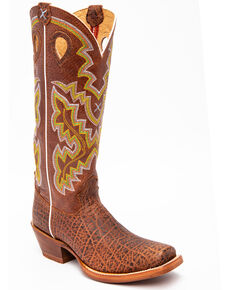Twisted X Men's Latigo Buckaroo Western Boots - Square Toe, Brown, hi-res
