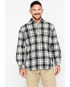 Carhartt Men's Hubbard Long Sleeve Plaid Flannel Work Shirt , Black, hi-res