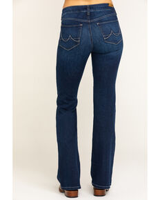 Ariat Women's Dark Ultra Stretch Flare Katie Jeans, Blue, hi-res