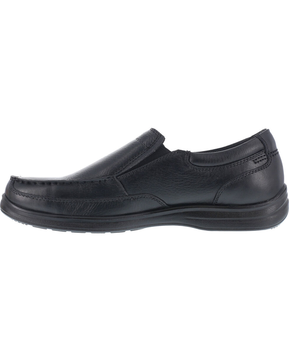 Florsheim Men's Slip-on Work Shoes - Steel Toe , Black, hi-res