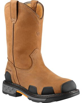 Ariat Overdrive Waterproof Pull-On Work Boots - Composite Toe, Dusty Brn, hi-res