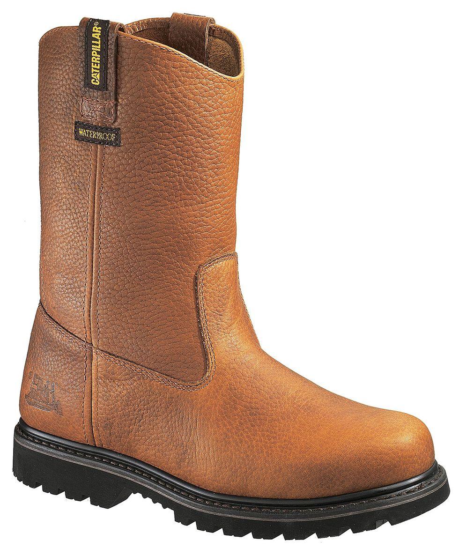 Caterpillar Edgework Waterproof Pull-On Work Boots - Round Toe, Mahogany, hi-res