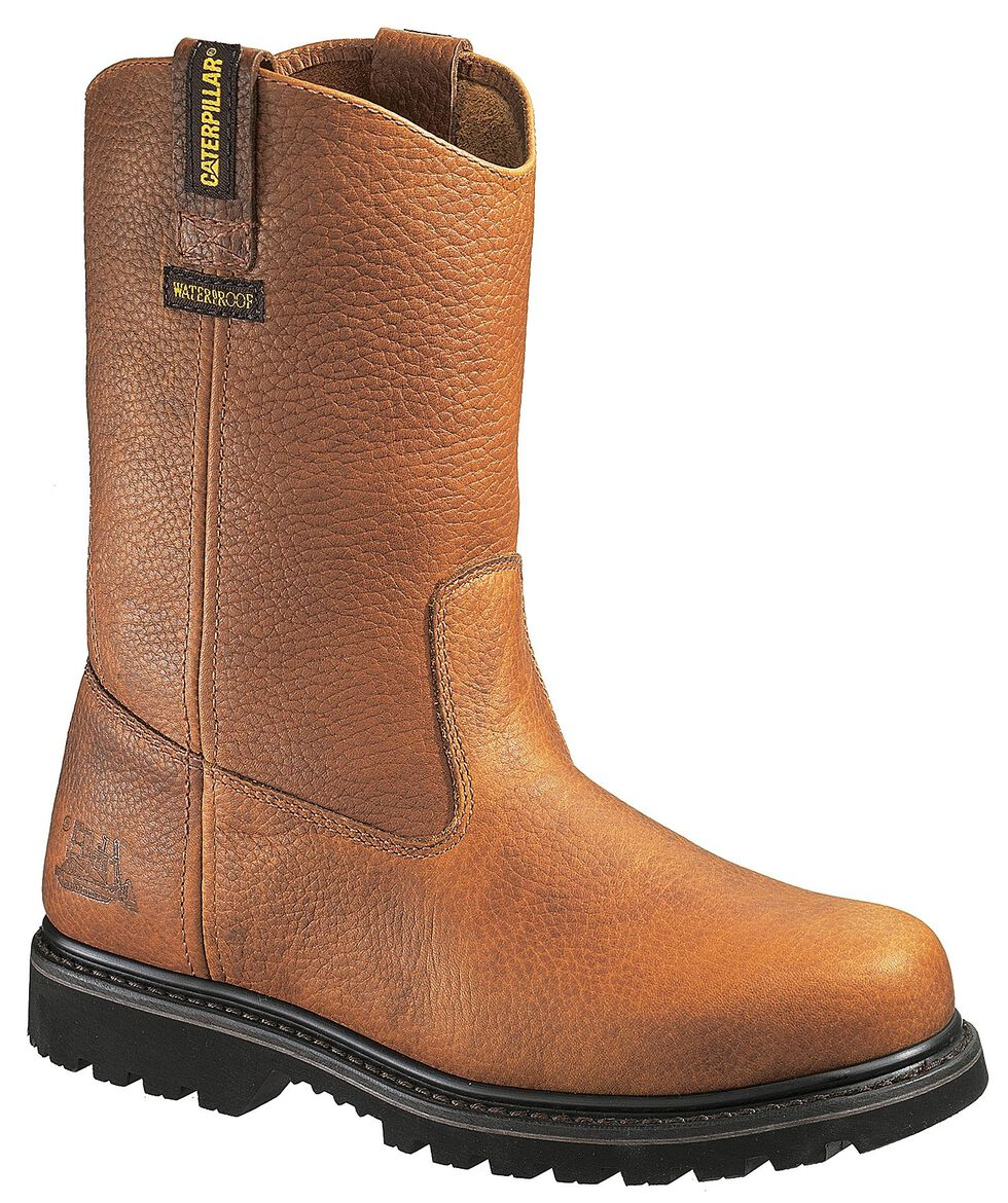Caterpillar Edgework Waterproof Pull-On Work Boots - Steel Toe, Mahogany, hi-res