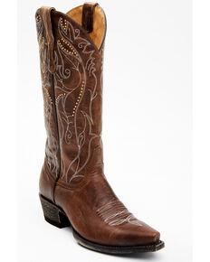 Idyllwind Women's Sweet Tea Western Boots - Snip Toe, Brown, hi-res