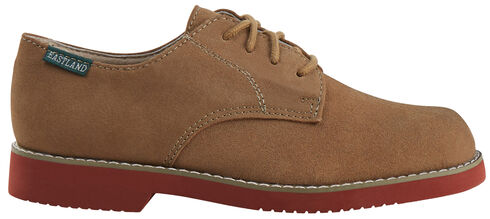 Eastland Women's Taupe Suede Buck Oxfords, Brown, hi-res