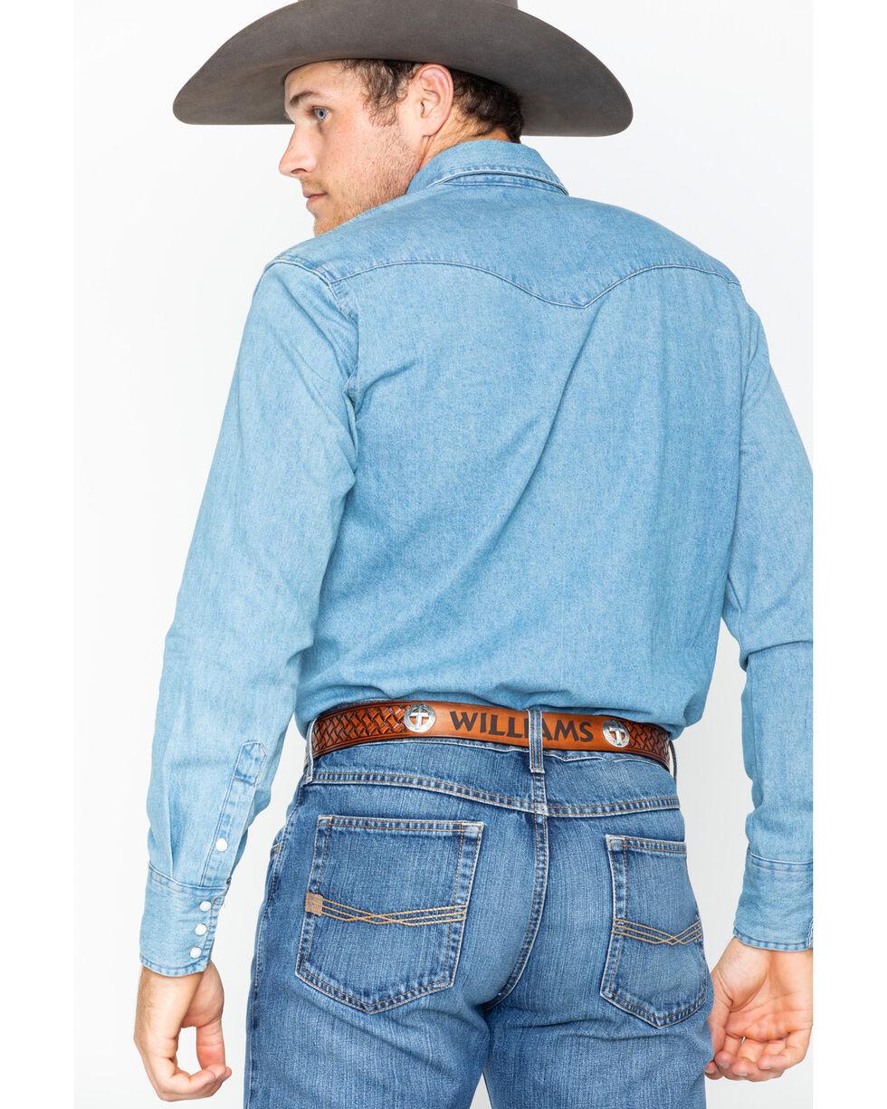 Wrangler Stonewash Denim Work Shirt, Stonewash, hi-res