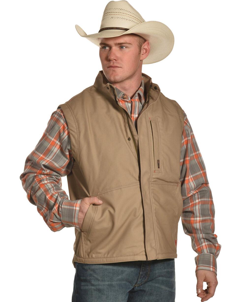 Ariat Men's FR Lined Workhorse Vest - Tall, Beige/khaki, hi-res