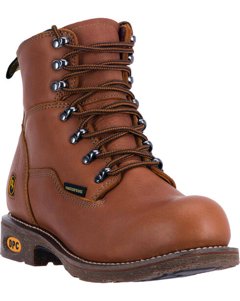 Dan Post Detour Waterproof Logger Boots - Round Toe , Honey, hi-res