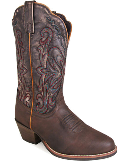 Smoky Mountain Women's Brown Fusion #1 Western Boots - Round Toe , Brown, hi-res