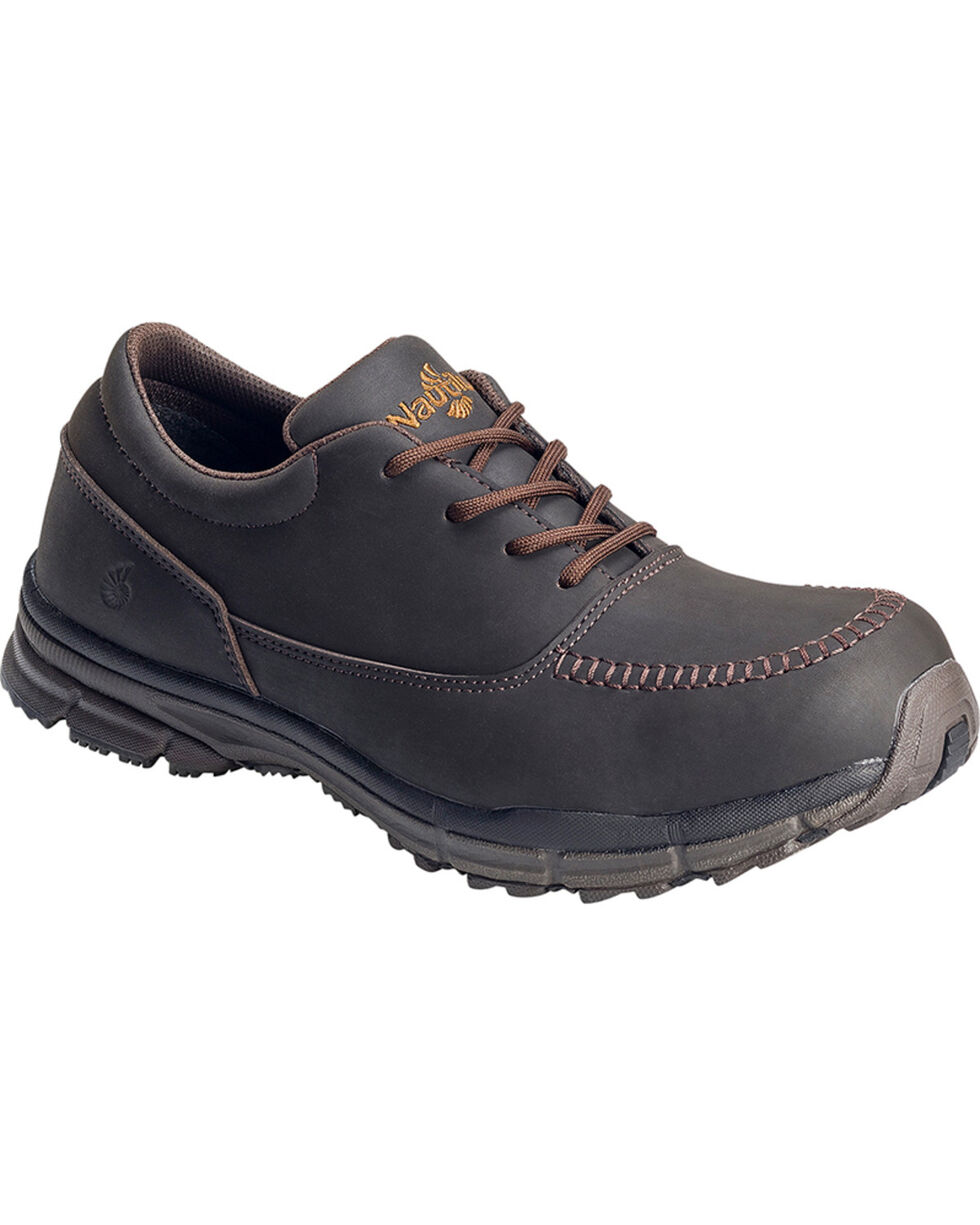 Nautilus Men's ESD Lace Up Casual Shoes - Steel Toe, Brown, hi-res